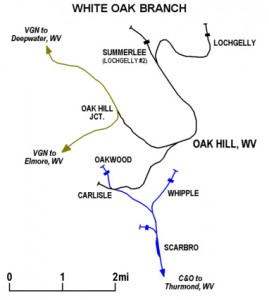 White Oak Railway Map