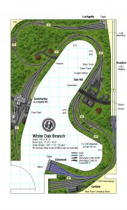 Track Plan VGN White Oak Branch, WV HO scale