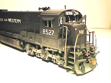 N&W C36-7 in HO by Andy Lester