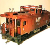 N&W C-31P caboose in HO by Andy Lester