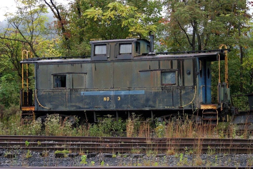 Big Eagle Railroad caboose number 3 at Winifrede Jct, WV