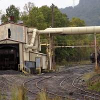 Big Eagle Railroad car unloader Winifrede Jct, WV