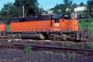 B&LE SD38-2 872 at North Bessemer, PA 1982 -Jim Olmstead