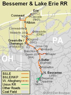 BLE Bessemer Lake Erie Appalachian Railroad Modeling