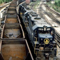 GP38s in Grafton, WV, 1976 -Donald Haskel