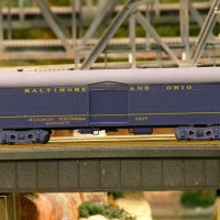 B&O baggage car model by Ed Lorence