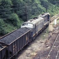 B&O coal train Grafton, WV