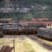 B&O Connellsville, PA turntable