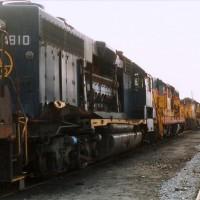 B&O GP38 4810 wreck at Huntington, WV