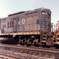 B&O GP9 6610 at Huntington, WV