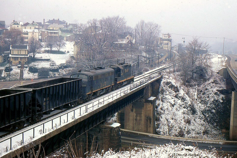 B&O empty train Clarksburg, WV