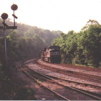 NS coal train at Boody, VA