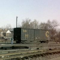 B&O Waffle Side Boxcar 486598 at Huntington, WV