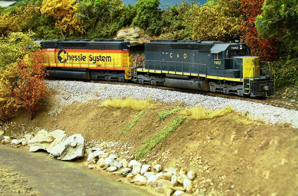 C&O SD40 model by Kevin Yackmack
