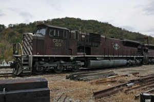 A&O (leased CEFX) SD90 helper set at Burnsville, WV, 2009 -Eric Miller