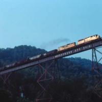 Chessie 4193 on trestle, KY