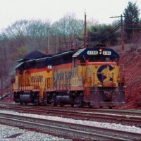 CSX 4386 Chessie at Sand Patch, PA