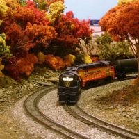 Chessie N scale train model by Scott Wilson