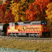 Chessie SD7 N scale model by Scott Wilson