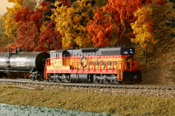 Chessie SD7 N scale model by Scott Wilson