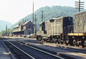 Empty coal train at Thurmond, WV, 1973 -Donald Haskel