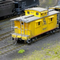 C&O cabooses by Brian Kelly