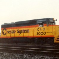 C&O GP30 3000 at Huntington, WV