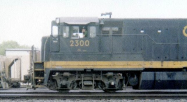 C&O U23B 2300 in Huntington, WV