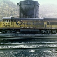 C&O Chessie U23B 2321 in Handley, WV