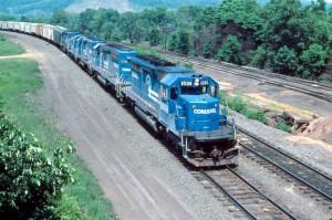 Conrail SD40-2 at Enola, PA, 1986 -Tim Mader