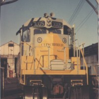 CRR SD40 at Erwin, TN, 1966 -Ron Flanary