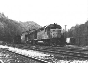 CRR SD40 at Dante, VA 1980 -Ron Flanary