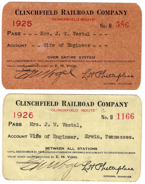 CRR Pass 1925 and 1926