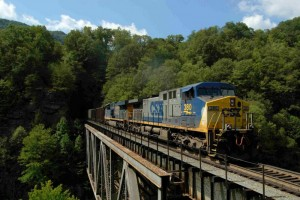 CSX CW44AC at Pool Point Bridge near Elkhorn City, KY, 2008 -Eric Miller
