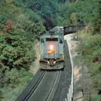 CSX Train, Davis Creek Trestle