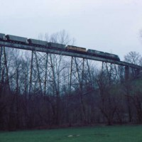 CSX Train, Howards Creek Bridge