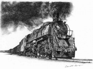 Clinchfield Challenger, charcoal by Dan Bourque