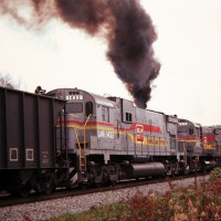 Family Lines C630 on a unit coal train at Woodbine, KY, 8 Nov 1978 -Jay Thompson