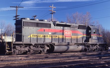 FL SCL SD40-2 8056 at Spartanburg, SC