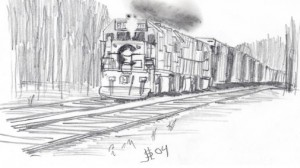 Chessie Freight, pencil by Jeffrey Sessa