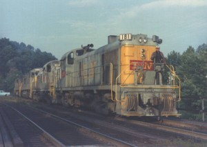 L&N RS3s at Appalachia, VA, 1966 -Ron Flanary