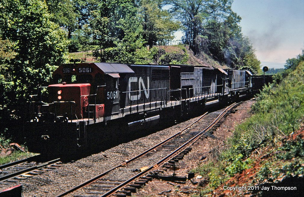 CN SD40 on L&N, Knoxville, TN