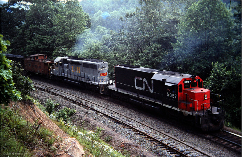 CN SD40 on L&N, Habersham, TN