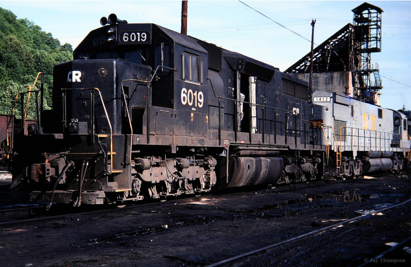 Conrail 6019 on L&N, Hazard, KY
