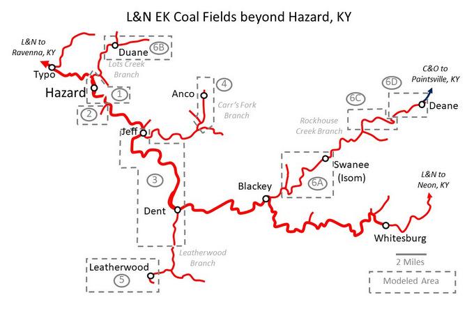 L&N EK Coal Fields
