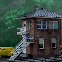 L&N Baxter Tower HO scale model by Jeff Kuebler