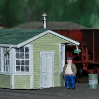 L&N Ravenna, KY scale house HO scale model by Jeff Kuebler