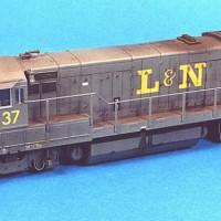 L&N U23B in HO by Stu Thayer