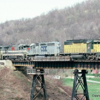 MGA train CNW and CSX, Waynesburg and Southern, PA