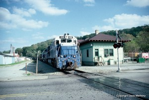 Detroit Edison U30C on MGA at Waynesburg, PA, Oct 1990 -Dave Matheny